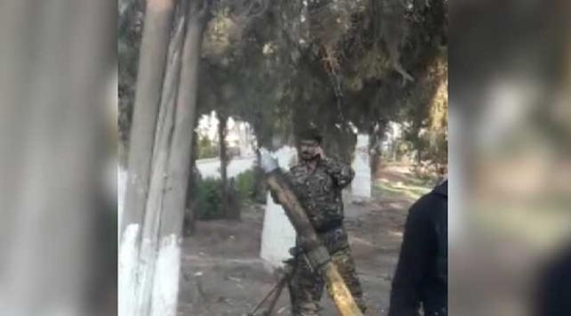 YPG/PKKlıların sivillere ait parktan yaptığı saldırı kamerada