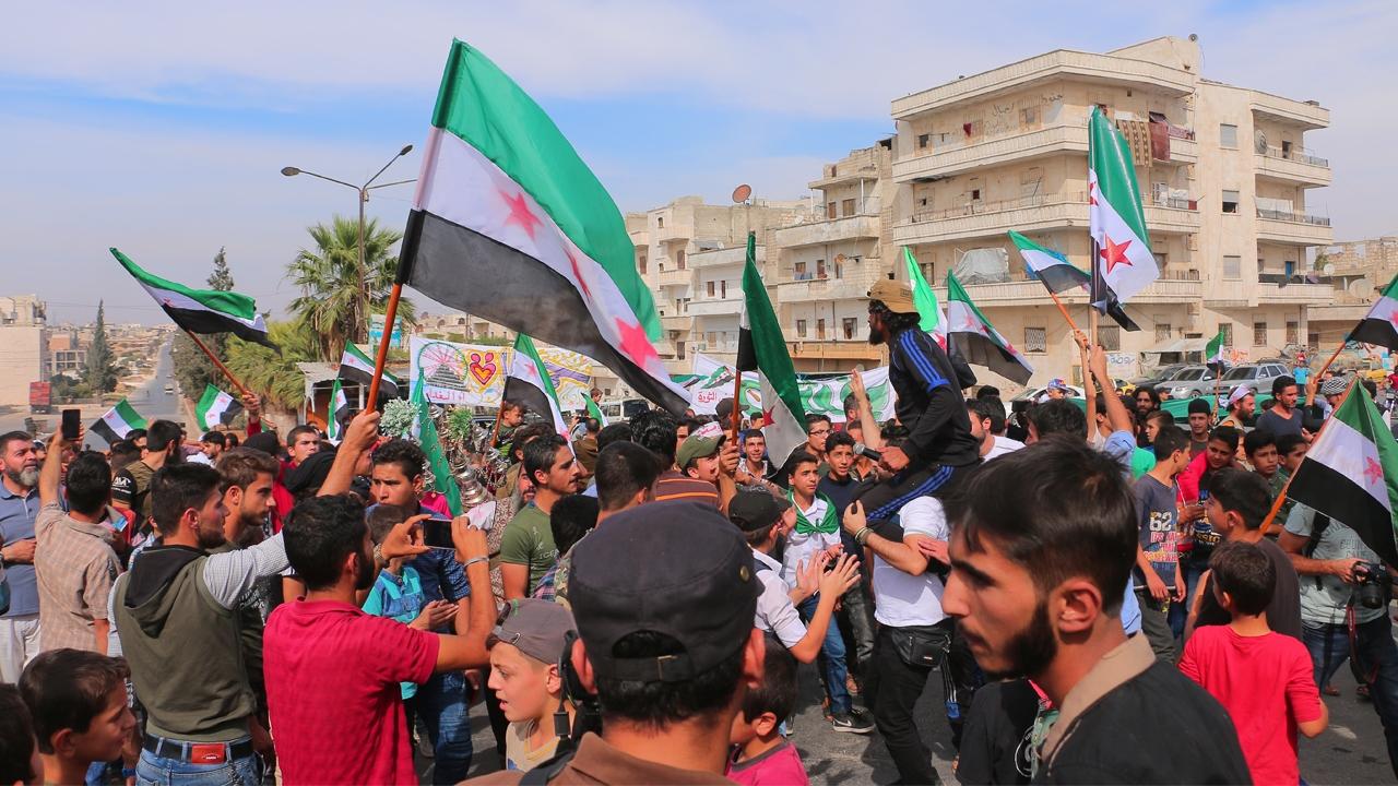 İdlib halkından Barış Pınarı Harekatına destek