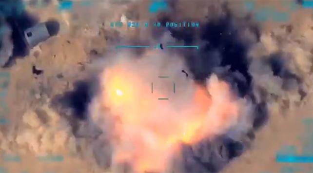 Terör örgütlerine ait Doçka uçaksavar araç tam isabetle vuruldu