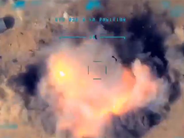 Terör örgütlerine ait uçaksavar monteli araç tam isabetle vuruldu