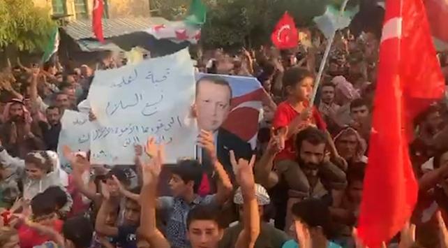Afrin halkından Barış Pınarı Harekatı'na destek