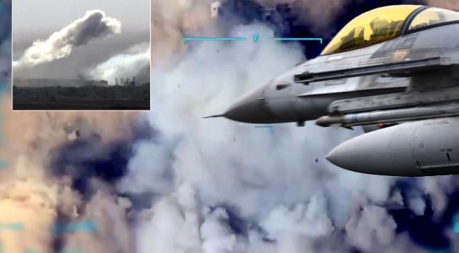 Terör hedeflerinin vurulma anı TRT Haberde