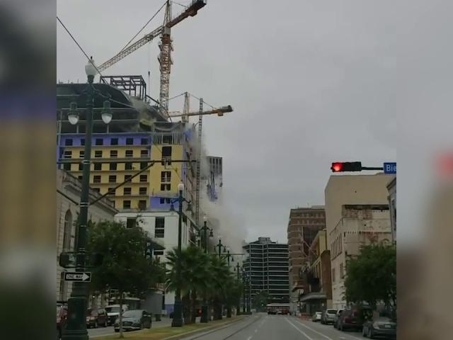 ABDde otel inşaatının çöküşü kamerada