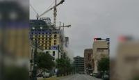 ABD'de otel inşaatının çöküşü kamerada