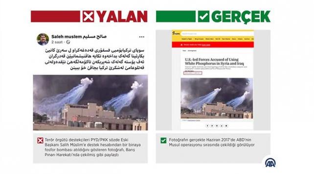 """Barış Pınarı Harekatında """"fosfor bombası kullanıldı"""" dezenformasyonu"""