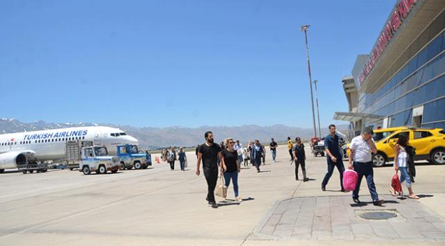 Hakkari'deki havalimanından 9 ayda 134 bin kişi uçtu