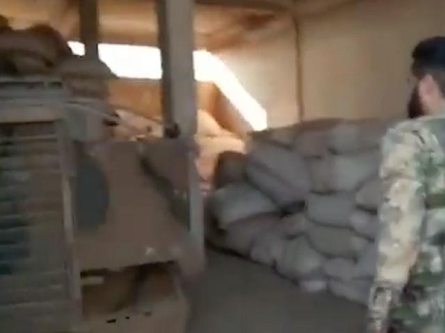 Tel Abyad'da ABD'nin uçaksavar aracı bulundu
