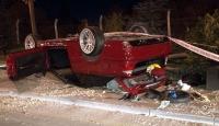 Ankara'da kontrolden çıkan otomobil takla attı: 1 ölü, 3 yaralı