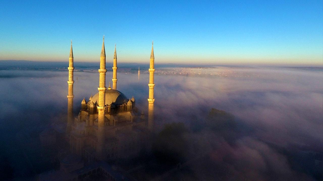 Selimiye Camisi'nde sis manzarası
