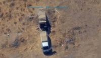 Teröristlere ait mühimmat ikmali yapan kamyonet imha edildi