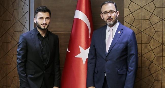 Gençlik ve Spor Bakanı Kasapoğlu, Enver Cenk Şahini kabul etti