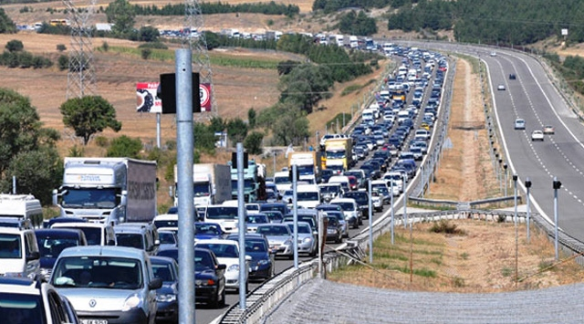 Bolu Dağında Trafik Yoğunluğu