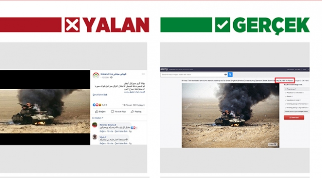 """Barış Pınarı Harekatı aleyhine """"yanan askeri araç"""" fotoğraflarıyla manipülasyon"""