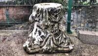 Bartın'da bir evin bahçesinde tarihi sütun ele geçirildi