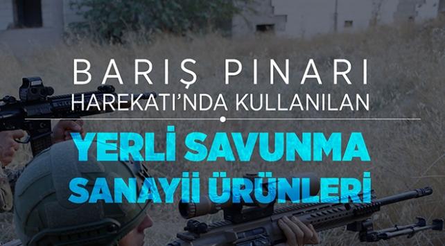 Barış Pınarı Harekatı'nda Mehmetçiğin kullandığı yerli ve milli silahlar