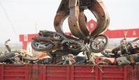 Çürüyen motosikletler ekonomiye kazandırılıyor
