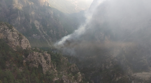 Muğlada yıldırım yangına sebep oldu