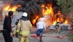 Kartalda iş yeri yangını