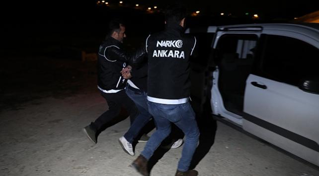 Ankarada film gibi narkotik operasyonu