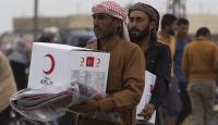 Kızılay'dan Tel Abyad'daki sivillere insani yardım