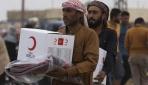 Kızılaydan Tel Abyaddaki sivillere insani yardım