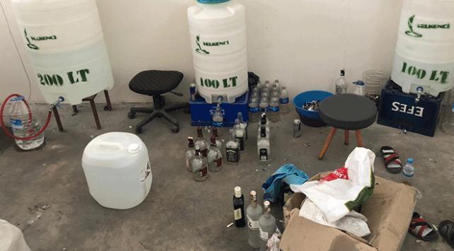 Adanada sahte içki operasyonu: 2 gözaltı