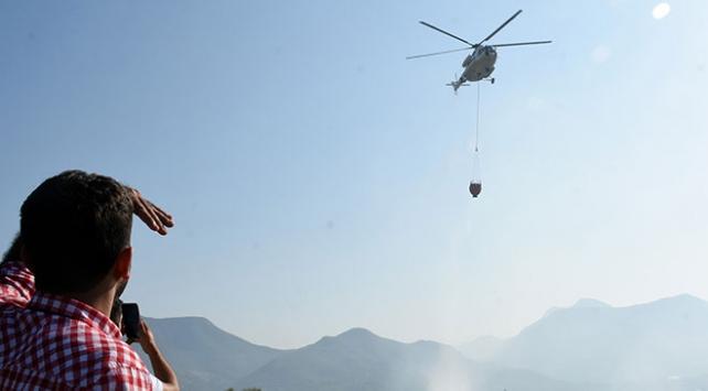 Antalyada orman yangını: 10 dönüm alan zarar gördü