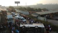 Kocaeli'de işçi servisi devrildi: 8 yaralı