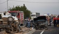 Mardin'de Başsavcı ve Adalet Komisyonu Başkanı trafik kazasında yaralandı