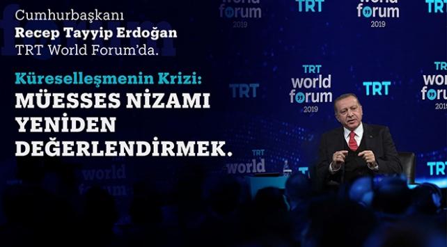 Cumhurbaşkanı Erdoğan, TRT World Forumdan dünyaya seslenecek