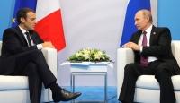 Putin ve Macron telefonda Suriye'yi görüştü