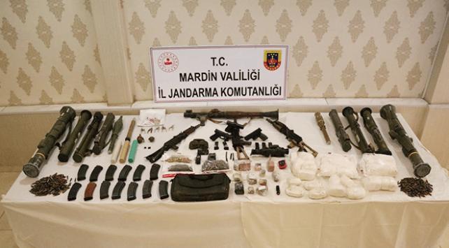 Mardinde terör örgütü PKKya ait mühimmat ele geçirildi