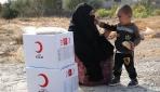 Kızılay Tel Abyada yardımlarını sürdürüyor