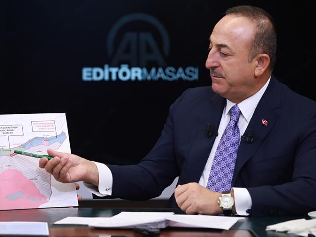 Bakan Çavuşoğlu Güvenli Bölge'yi harita üzerinden tek tek anlattı
