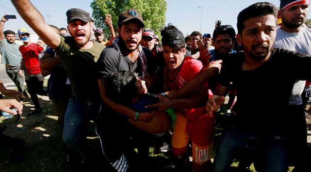 Irak güçleri, Yeşil Bölgeye girmek isteyen göstericileri dağıttı