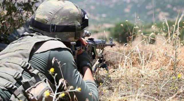 Güvenlik güçlerine yapılan taciz atışına karşılık verildi