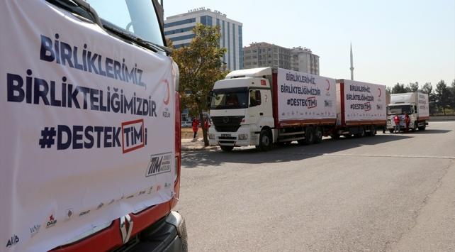 Barış Pınarı Harekatı bölgesine yardım tırları yola çıktı