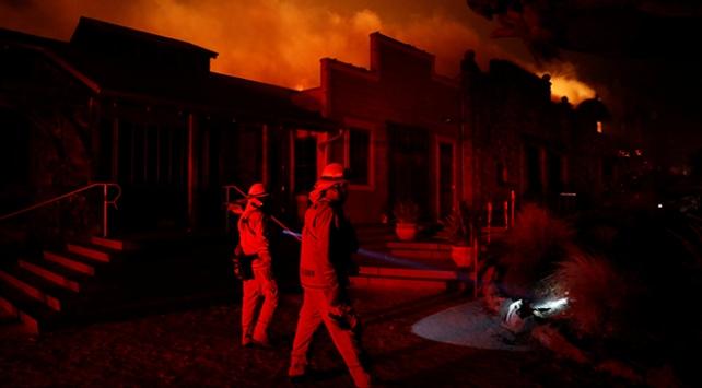 Californianın kuzeyindeki orman yangını sürüyor