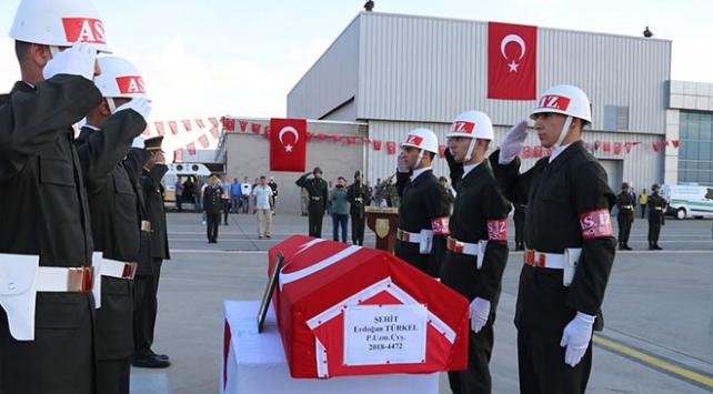 Şehit Erdoğan Türkel için tören düzenlendi