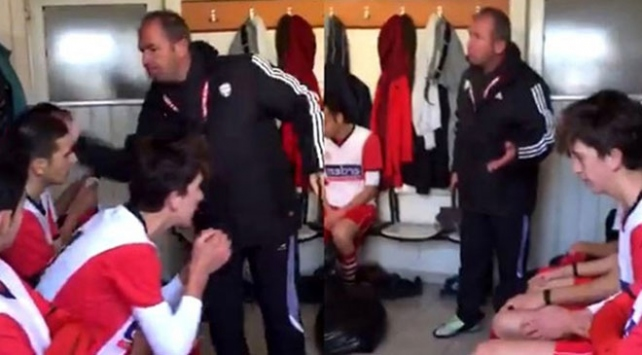 Futbolcularına tokat atan antrenöre ceza