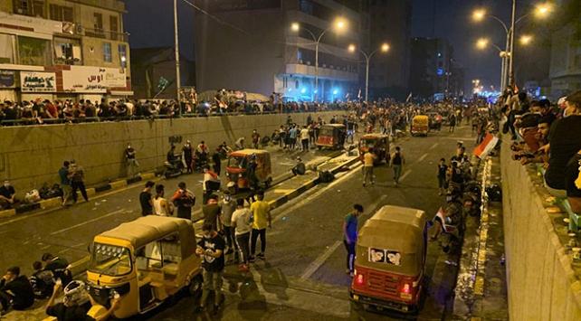 Irakın Kerbela vilayetindeki gösteriler: 1 ölü, 40 yaralı