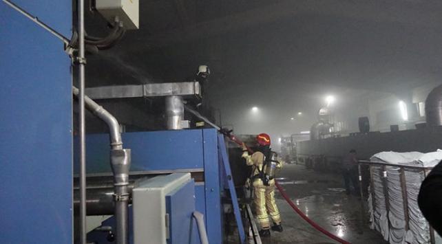 Bursada tekstil fabrikasında yangın