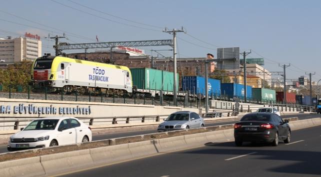 Çinden Avrupaya giden tren Ankaraya ulaştı