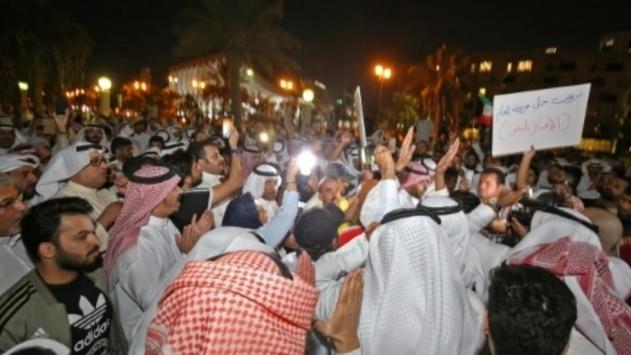 Kuveytte yolsuzlukla mücadele talebiyle gösteri düzenlendi