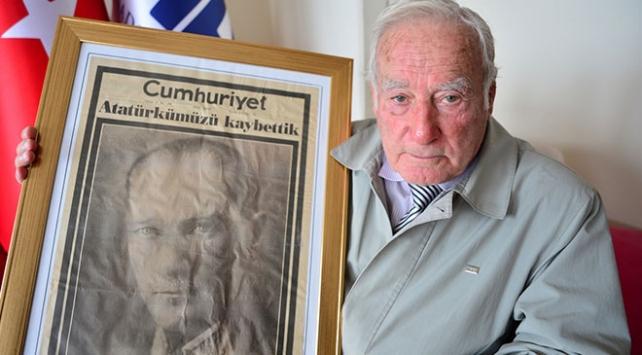 Atatürk sevgisini 81 yıldır sakladığı gazetede yaşatıyor