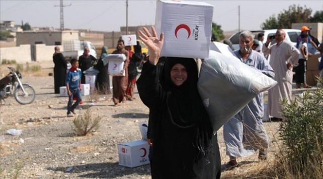 Türk Kızılay Barış Pınarı Harekat bölgesinde yardıma koştu