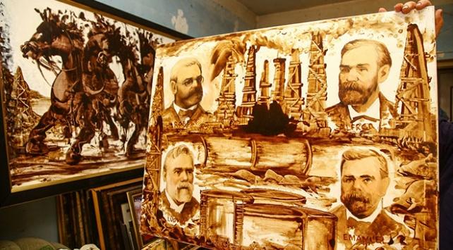 Petrolü sanata dönüştüren Azerbaycanlı ressam