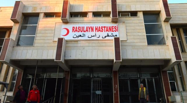 Teröristlerin kaçarken zarar verdiği Rasulayn Hastanesi ayağa kaldırıldı