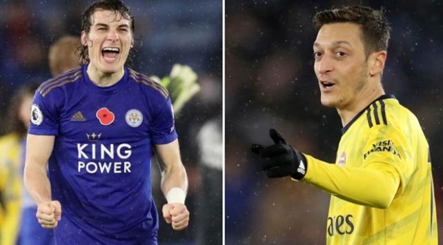 Çağlarlı Leicester City, Arsenali evine boş gönderdi