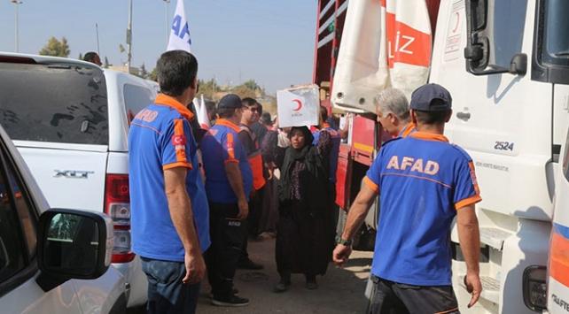 AFAD, Barış Pınarı Harekatı bölgesinde sivillerin en büyük destekçisi
